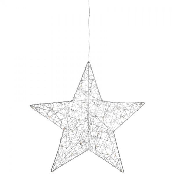 LED-Fensterbild Stern, ARTUR, Ø 50cm, 30 warmweiße LEDs