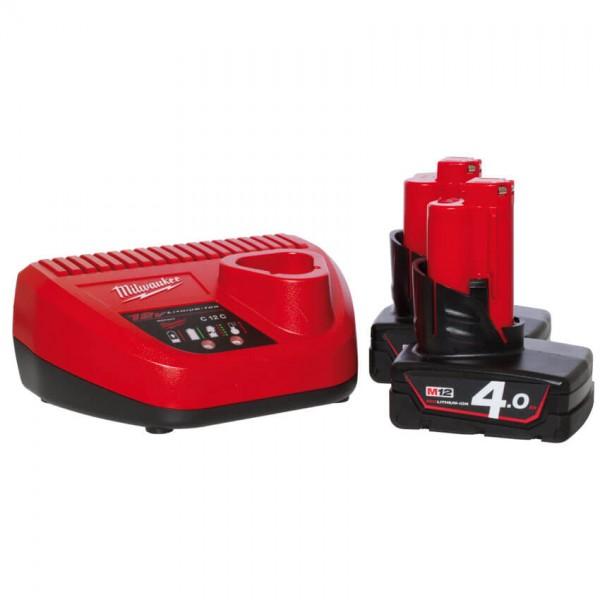 MILWAUKEE® - Akku-Pack-Set, 12V, inkl. 2 Akkus, 1 Ladegerät-M12 NRG-401