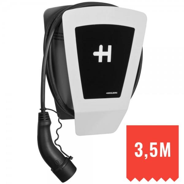 HEIDELBERG - Ladestation für E-Autos, WALLBOX ECO - 3,5m Ladekabel, 230V-400V-11 kW