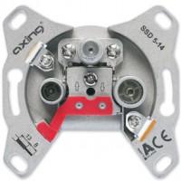 Axing® - Antennensteckdose UP-Einsatz SAT-Anlagen (Schüssel) Enddose