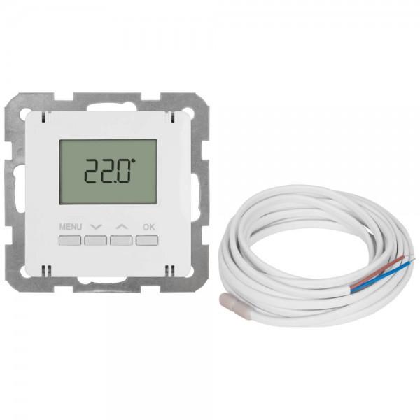 Panasonic® - Kombi-Raumthermostat, elektronisch, Zentralplatte 55 x 55 mm, LCD-Display, reinweiß - m