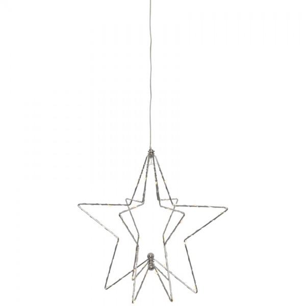 LED-Weihnachtsstern, 3D, Ø 30cm, H 30cm, 36 warmweiße LEDs