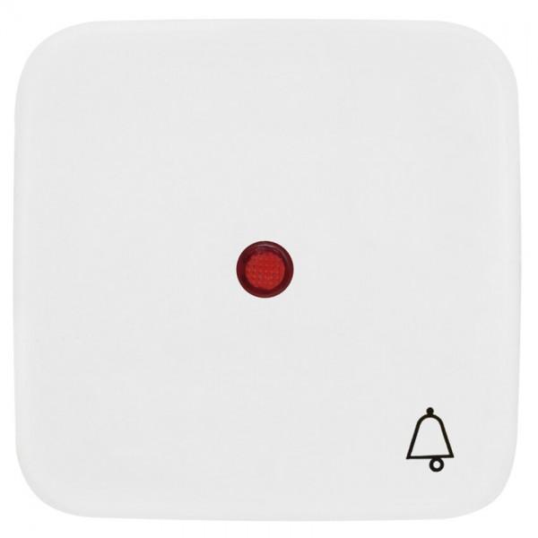 KLEIN®-SI - Einzelwippe reinweiß mit rotem Kontrollsymbol und Symbol Klingel