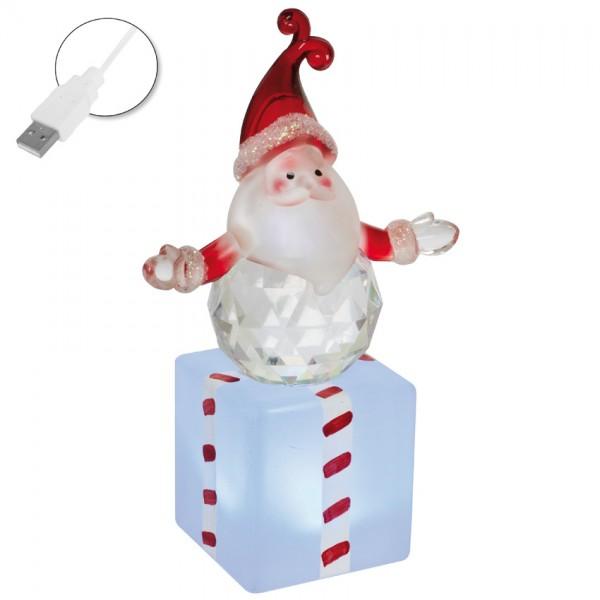 LED-Weihnachtsmann, H 12cm, B 7cm, T 4cm, mit RGB-Farbwechsler