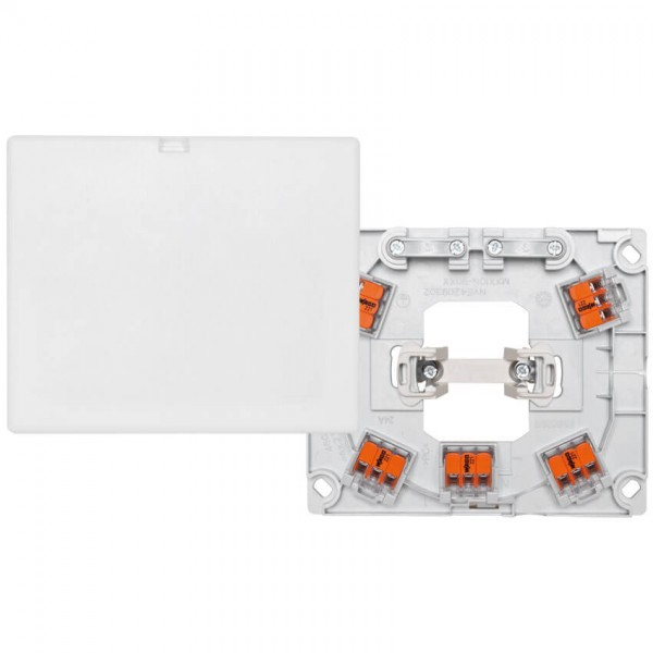 merten - AP/UP Geräte (Herd) -anschlussdose, 5 x 2,5mm², H 25 mm, polarweiß, inkl. WAGO-Klemmen
