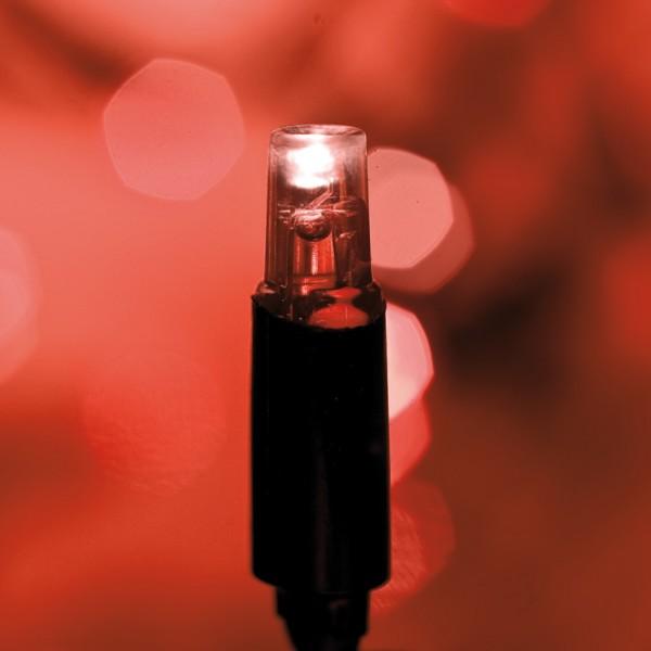 LED-Minilichterkette, L 5m, Verlängerungs-Kette, 50 rote LEDs