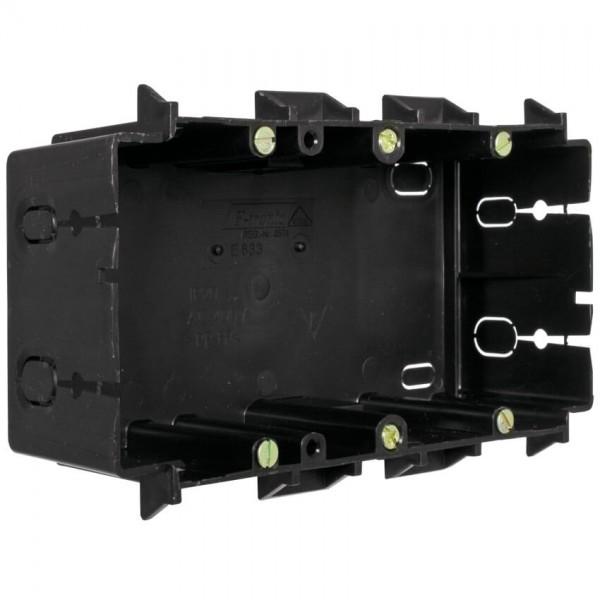ftronic® - Geräteeinbaudose für Kanäle von Licatec®-2-fach