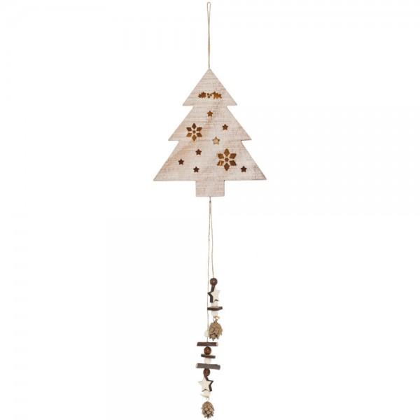 LED-Weihnachtsanhänger, Tannenbaum, warmweiße LEDs, batteriebetrieben
