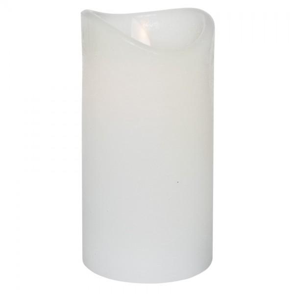 LED-Echtwachskerze, weiß, H 15cm, 1 warmweiße LED