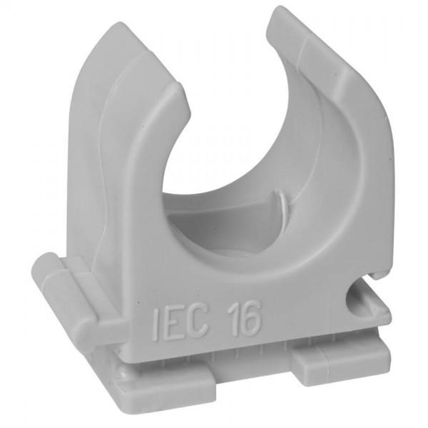 HUP® - Reihen-Klemmschelle, Pg 9, IRO 13,5, M 16, halogenfrei, M 6 Langloch, grau, 100 St.