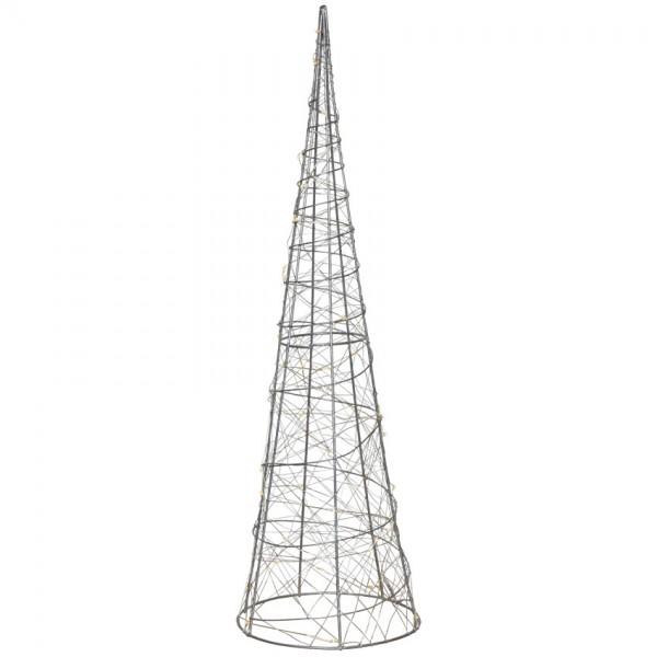 Pyramide, H 60cm, Ø 17,5cm, warmweiße LEDs