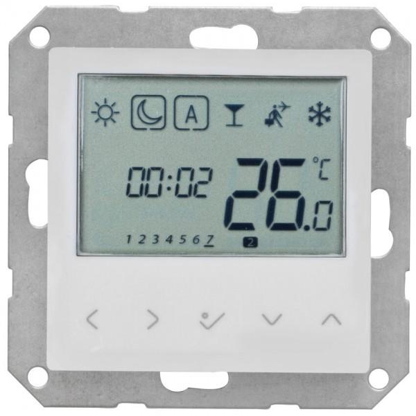 SALUS® - Kombi-Raumthermostat, elektronisch, 230V/0,5A, mit Zentralplatte 55 x 55 mm, LCD-Display, r