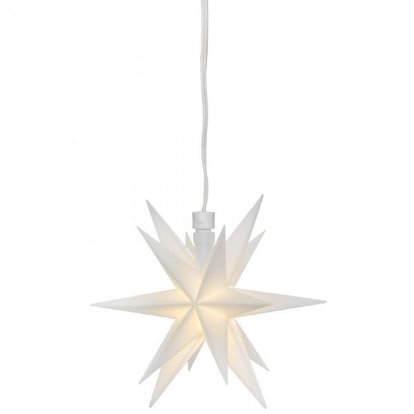 LED-Stern, weiß, Ø 12cm, 1 warmweiße LED, mit Trafo