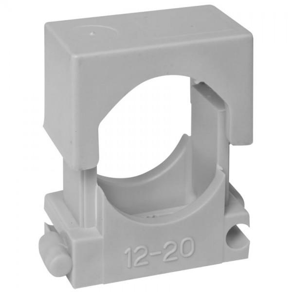 Reihen-Druckschelle, grau, anreihbar, halogenfrei-12 - 20 mm