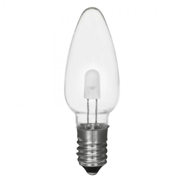 LED-Topkerze, klar, E10/8-34V/0,1-0,2W