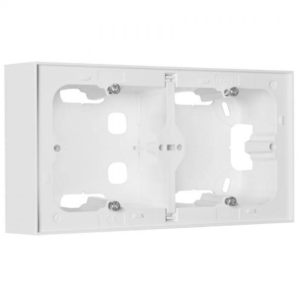 EFAPEL® - Aufputzgehäuse, für Schalter, Steckdosen und Geräte, LOGUS 90, signalweiß