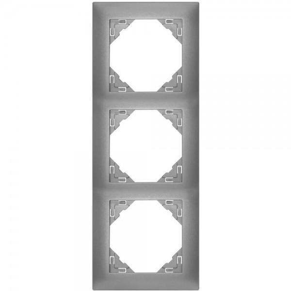 EFAPEL® - 3-fach Abdeckrahmen, LOGUS 90, anthrazit-grau