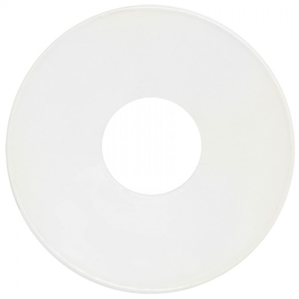 Fensterleuchterkränzchen, Ø 5,8cm, Metall weiß lackiert