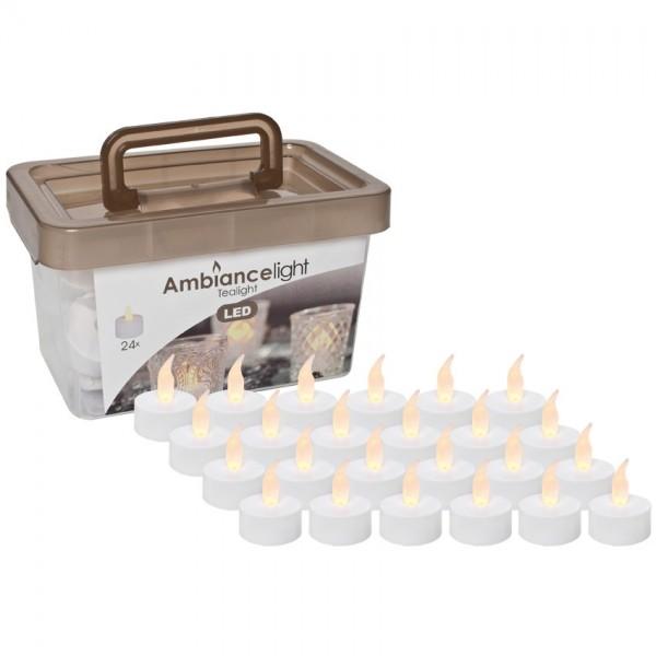 24 LED-Teelichter, H 4,5cm, batteriebetrieben