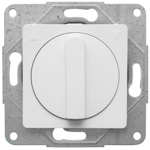 Panasonic® - Kombi-Jalousieschalter, mit Zentralplatte 50 x 50 mm, MERIDIAN, reinweiß