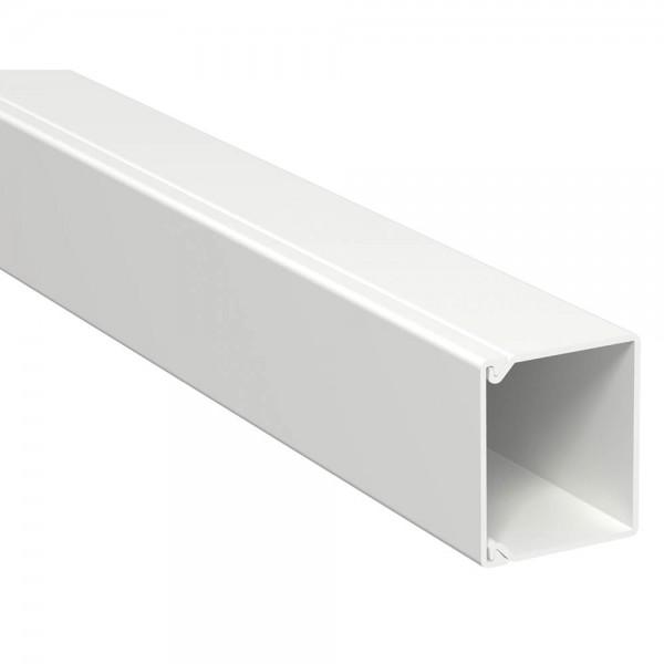 OBO® - 36m, Wand- und Deckenkanal, 40x40mm, WDK, reinweiß (RAL9010), Länge 2 m-WDK 40040RW