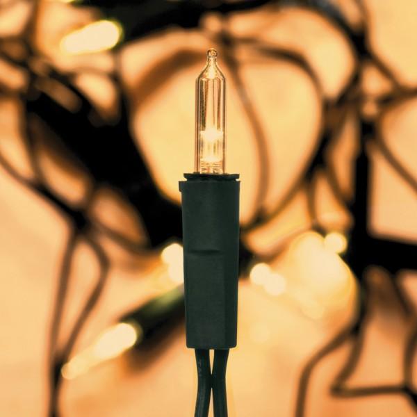 LED-Minilichterkette, L 10m, 50 Bernsteinfarbene, superwarmweiße LEDs