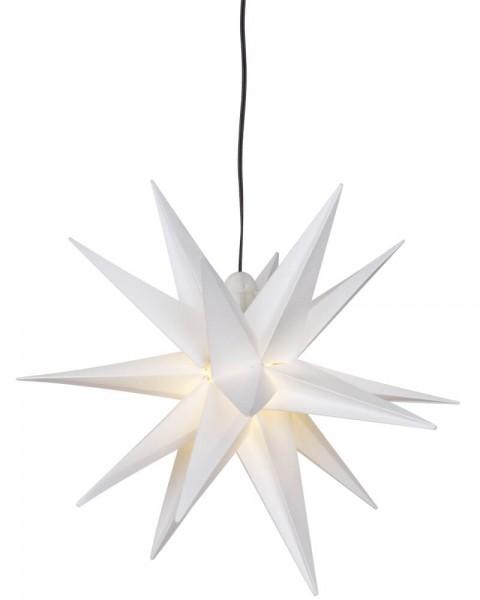 Weihnachtsstern, weiß, Ø 25cm, 1 x E14/15W