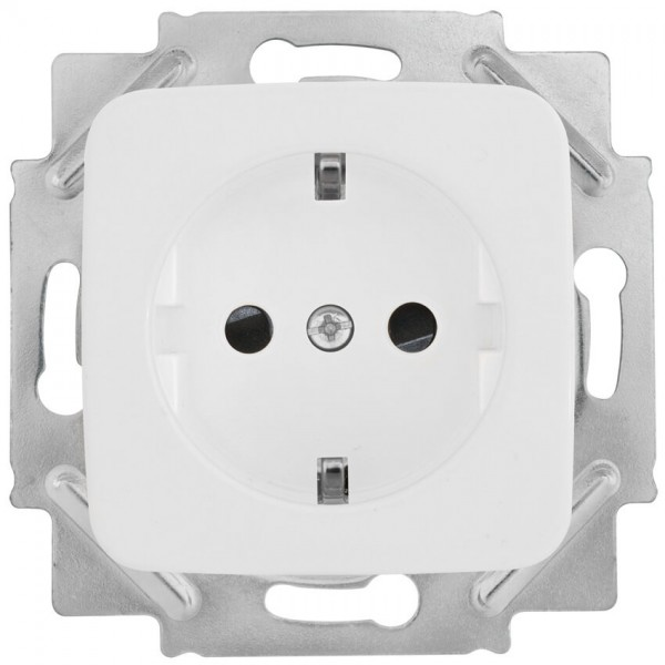 KLEIN®-SI - Kombi-Steckdose reinweiß mit integriertem Berührungsschutz