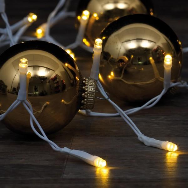 LED-Minilichterkette, L 50cm, 10 warmweiße LEDs