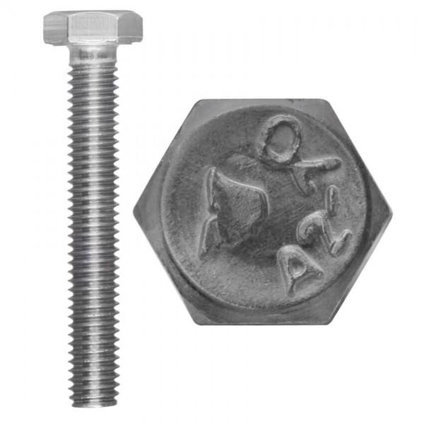 Außensechskant- Gewindeschraube, EDELSTAHL, A2, DIN 933, Vollgewinde-M10 x 30 mm