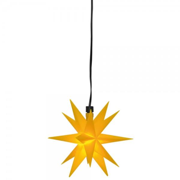 LED-Stern Gelb, 1 warmweiße LED, Ø 12cm