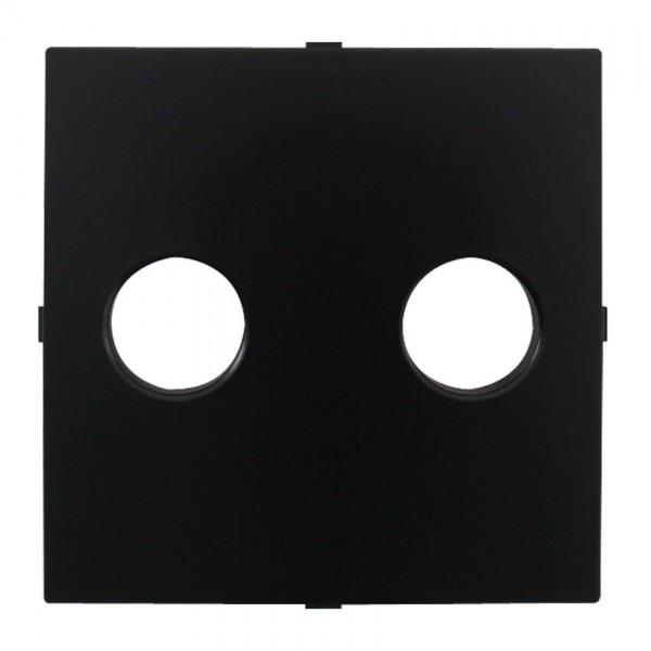 EFAPEL® - Zentralplatte, für Lautsprecher-Einsatz, LOGUS 90, schwarz matt