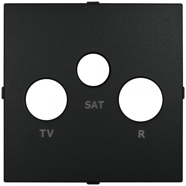 EFAPEL® - Zentralplatte, für SAT-Antennensteckdose mit Steckanschluss, LOGUS 90, schwarz matt