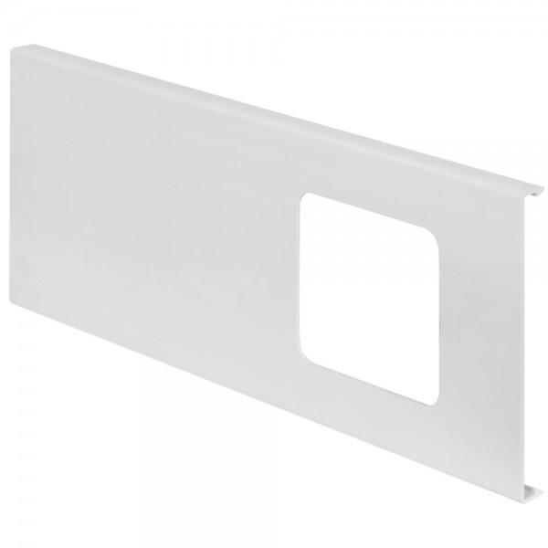 OBO® - Deckeloberteil, 1-fach, H 130mm, WDK, mit Ausschnitt, reinweiß (RAL 9010)-D2-1 130RW