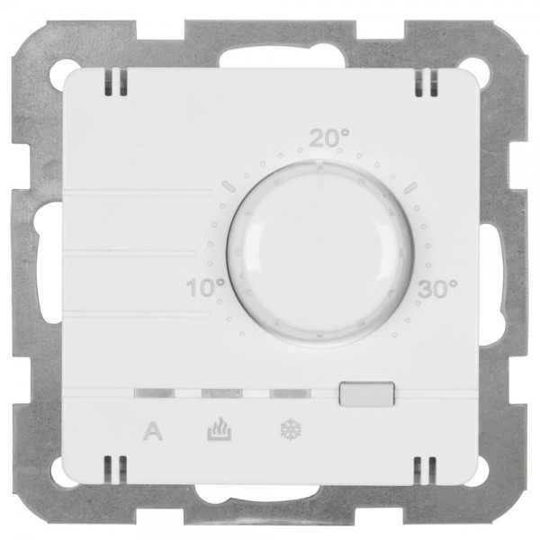 Panasonic® - Kombi-Raumthermostat, elektronisch, Zentralplatte 55 x 55 mm, reinweiß