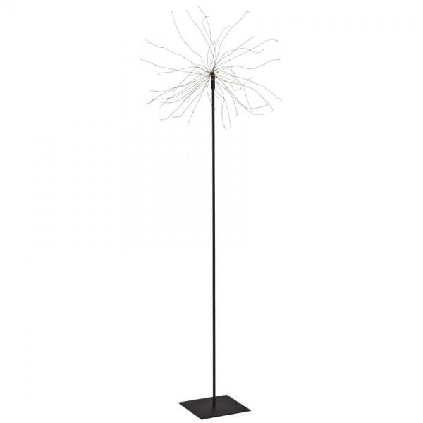 LED-Standstern, FIREWORK, H 130cm, Ø 25cm, 200 warmweiße LEDs