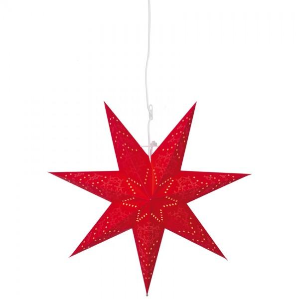 Weihnachtsstern, SENSY, rot, Ø 55cm, 1 x E14/25W