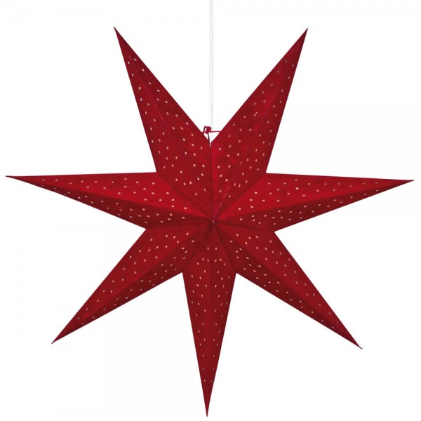 Weihnachtsstern, CLARA, rot, Ø 75cm, 1 x E14/25W