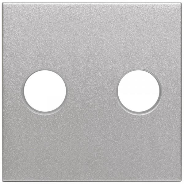EFAPEL® - Zentralplatte für Lautsprecher- Einsatz, LOGUS 90 alu-silber