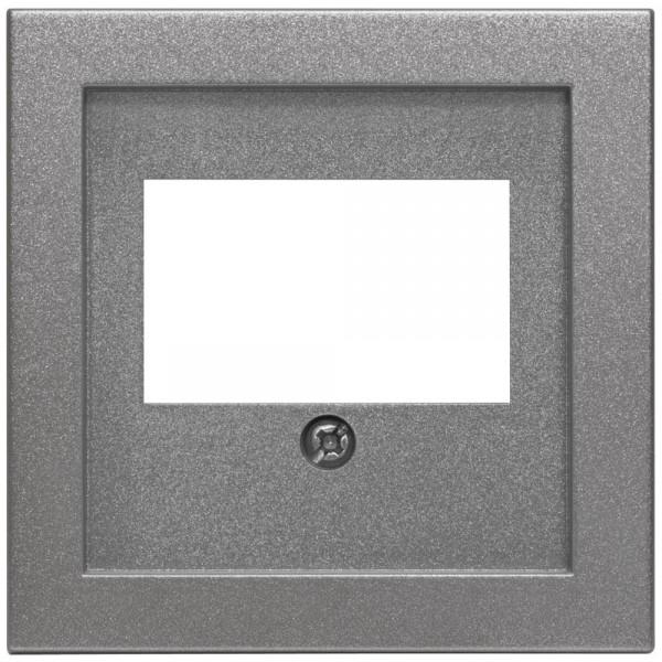 EFAPEL® - Zentralplatte, für 1-3-fach-TAE-Steckdose, LOGUS 90, anthrazit-grau