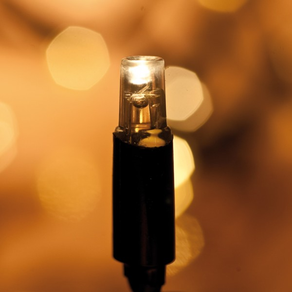 LED-Minilichterkette, 50 superwarmweiße LEDs