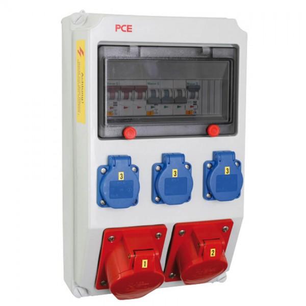 PCE - CEE Steckdosenverteilung ANIF - 2x CEE 16/32A abgesichert - 3x Schuko abgesichert
