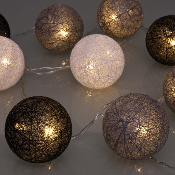 LED-Minilichterkette, 10 warmweiße LEDs