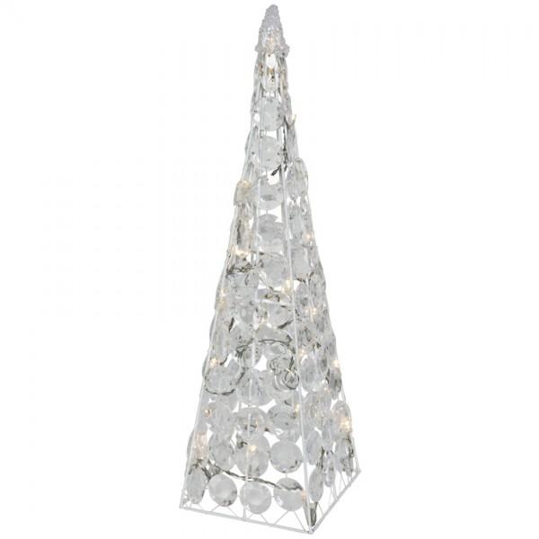 LED-Pyramide, H 45cm, 24 warmweiße LEDs