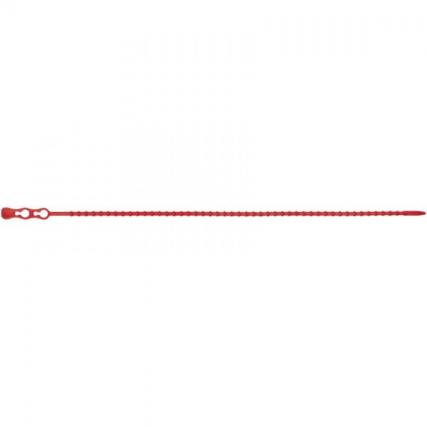Kabelbinder, lösbar, rot, Nylon, selbstverlöschend, Norm UL94 V2, L 320 mm, B 4,4 mm, 100 St.