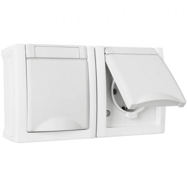 Panasonic® - AP/FR - PACIFIC - weiß - Steckdose, 2-fach, waagerecht