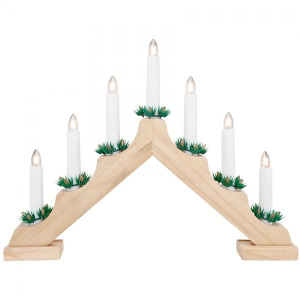 Weihnachtsleuchter natur, 7 x E10/34V/3W