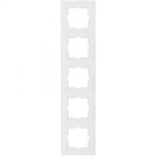 Panasonic® - Abdeckrahmen, MERIDIAN, reinweiß - 5-Fach