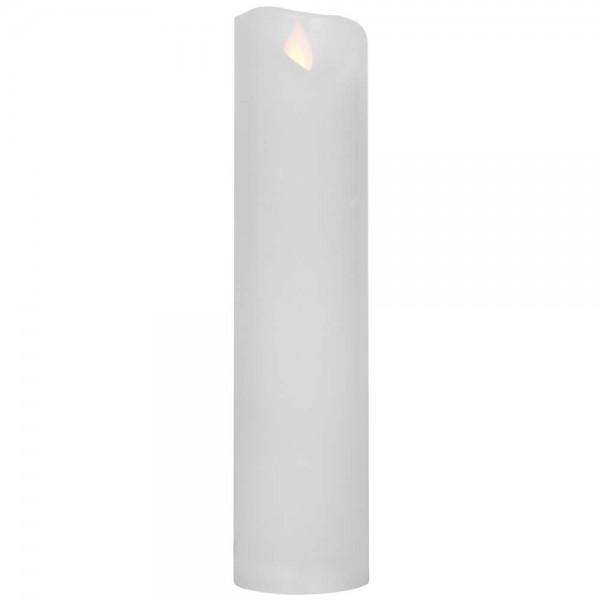 LED-Echtwachskerze, M-TWINKLE, H 20cm, Ø 5cm, warmweiße LEDs