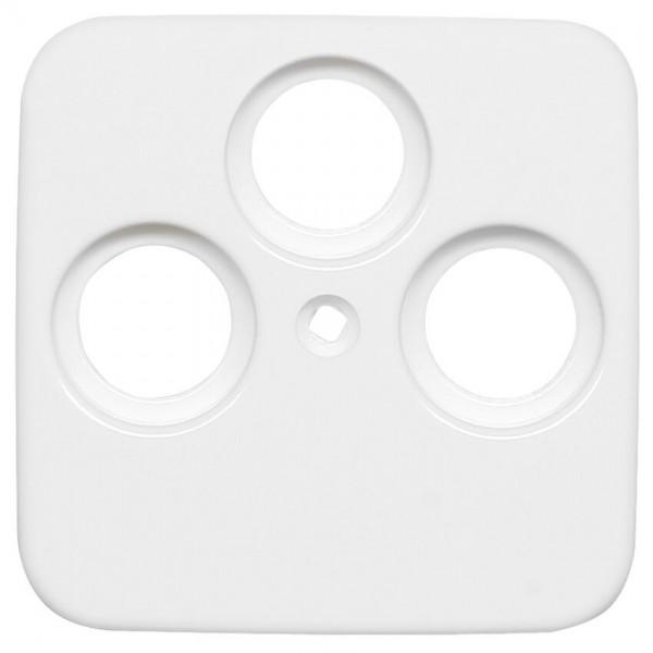 KLEIN®-SI - Abdeckung für Antennensteckdose (SAT-Dosen 3-Loch) reinweiß